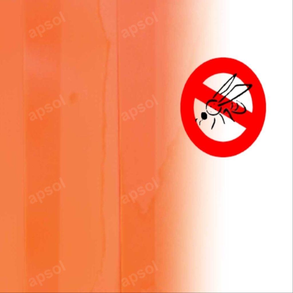Lanière orange translucide anti insecte