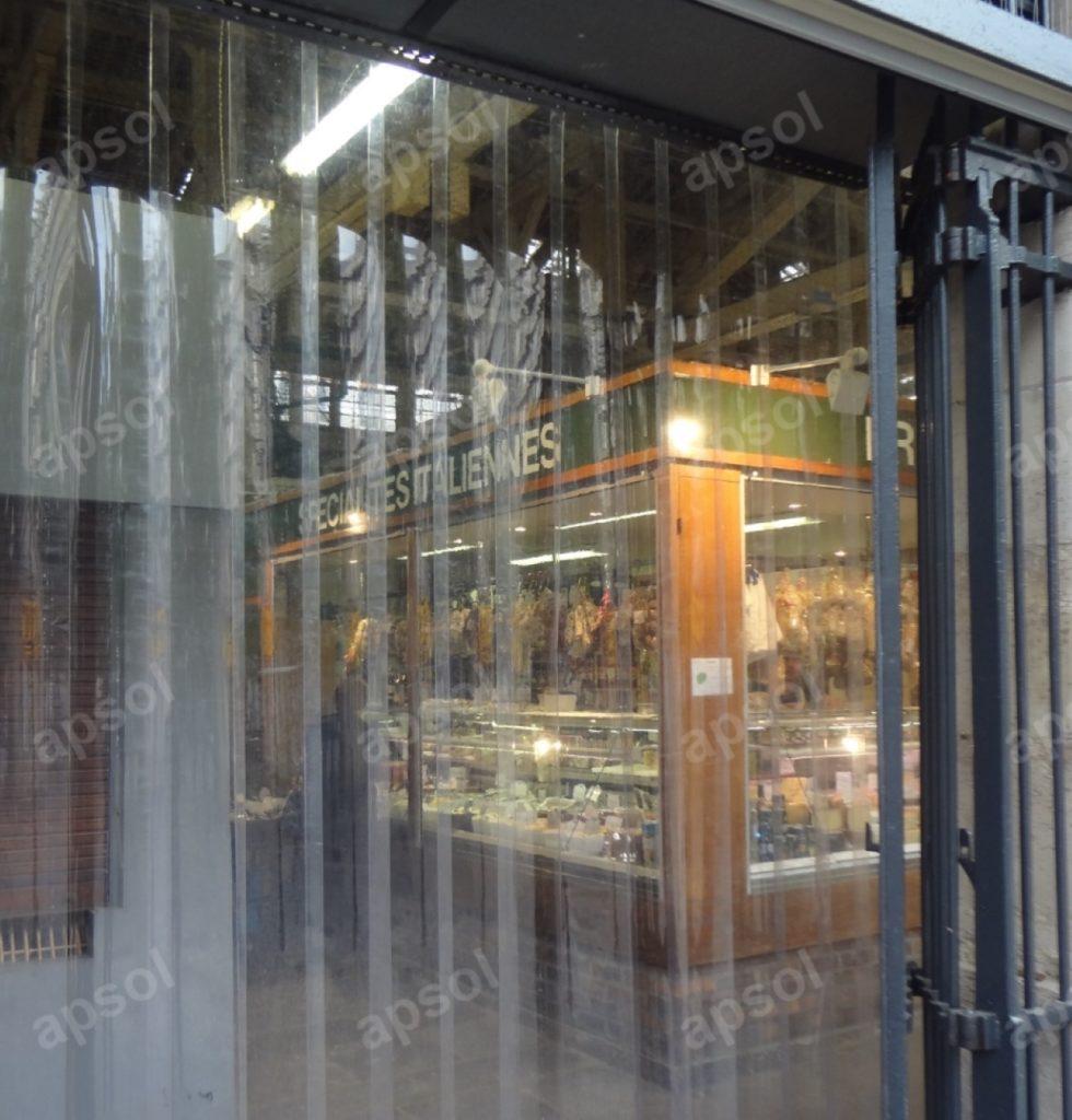 Porte à lanières apsol transparente pour couper les courants d'air