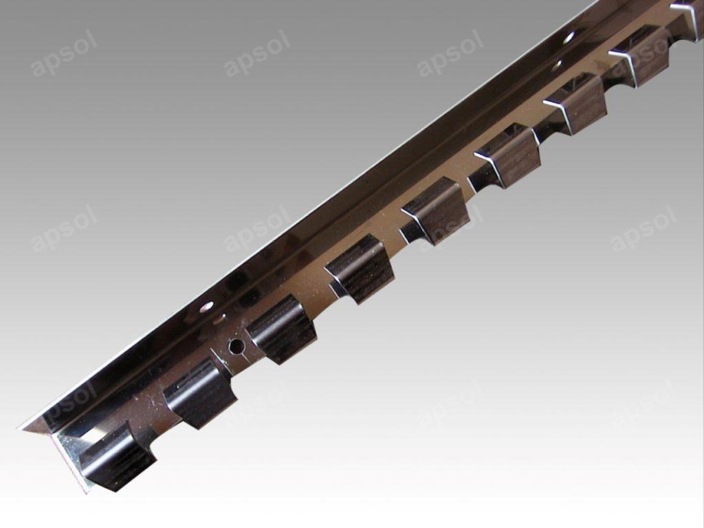 Rail inox pour rideau à lanières