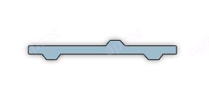 Lanières pvc souple transparent à bourrelets de renfort anti-salissures
