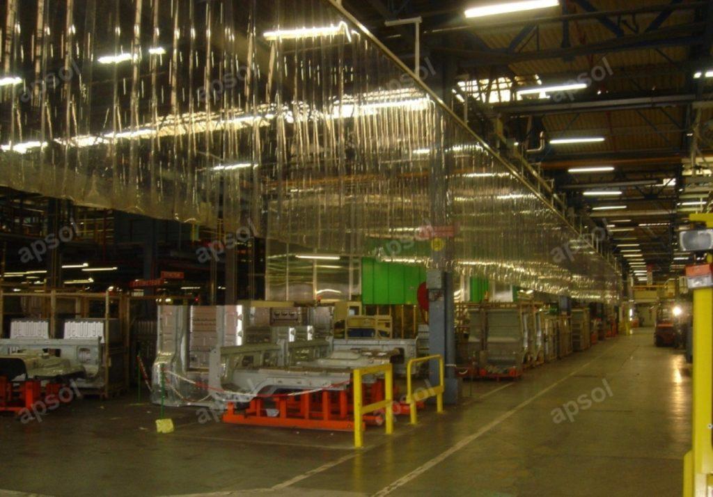 Rideau à lanières transparentes sur mesure apsol