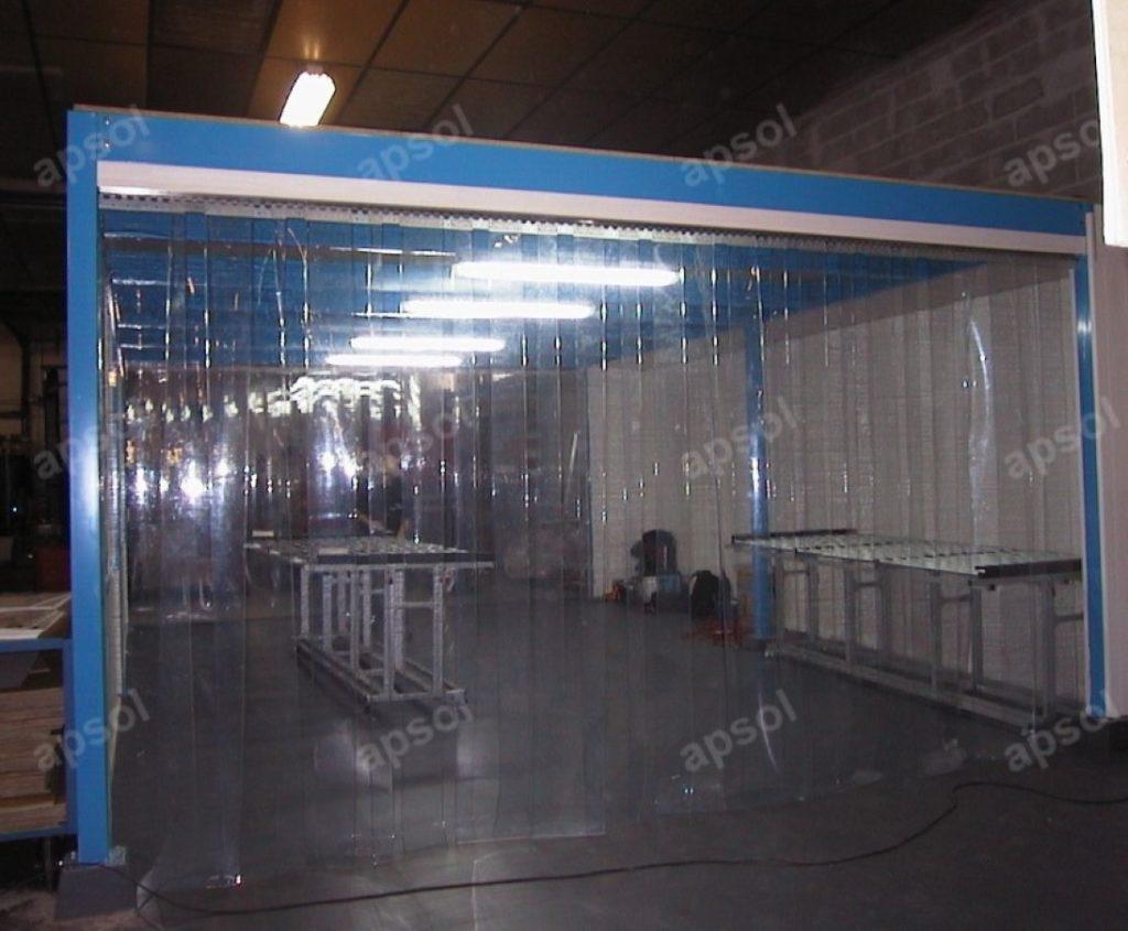 Systeme De Rideau Coulissant rideau à lanières décrochable - lanières en pvc souple | apsol