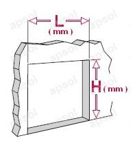 guide pour mesurer les dimensions du rideau à lanières repliables apsol