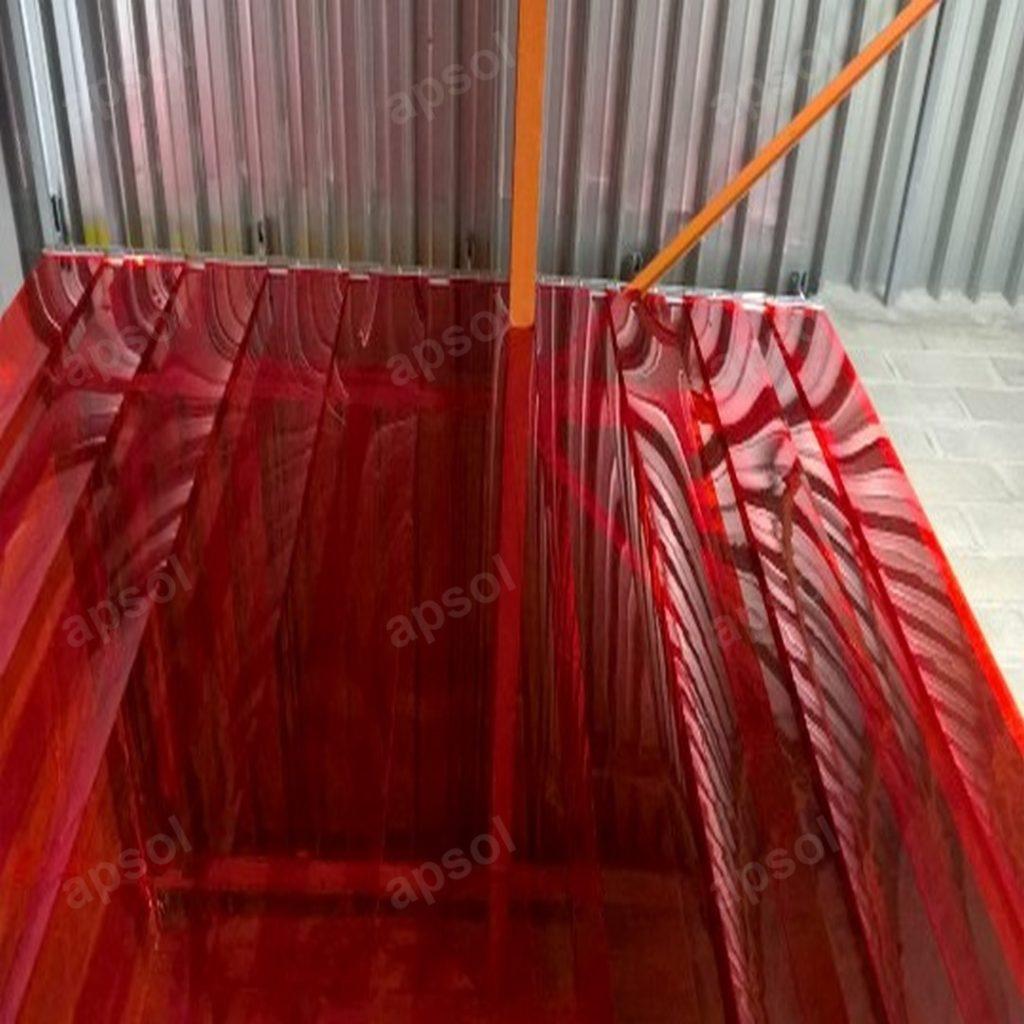 Lanière Rouge Translucide pvc souple apsol